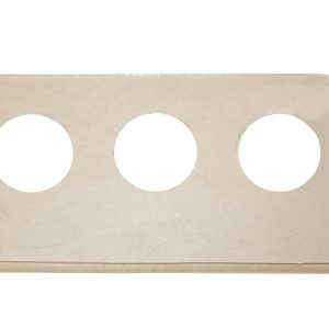 BUTTON DECKPLATE: 3 BUTTON, CLEAR (LIMITED TO STOCK)|3-15-0083