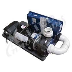 Controls / Equipment Packs | Above-Ground Spa Equipment PacksRETROFIT SKID PACK: IN.YE WITH 3.0HP PUMP 48 FRAME, 1.5HP BLOWER AND PLUMBING KIT