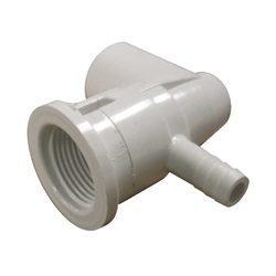 "Jets / Jet Parts | Ozone Jet AssembliesOZONE JET PART: CLUSTER ELL BODY WITH NOZZLE 3/8"" BARB X 1/2"" SLIP"