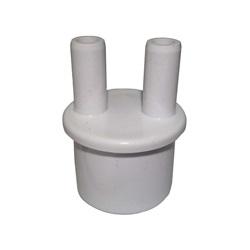 "Plumbing | ManifoldsMANIFOLD: 2-PORT 1"" SPIGOT X (2) 3/8"" BARB WITH PLUGS"