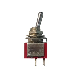 Switches | Rocker / Toggle SwitchesTOGGLE SWITCH: 6AMP 125V MINI  2-PRONG SPST MTS101