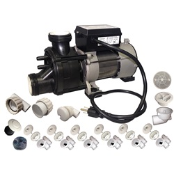 Plumbing | Plumbing Kits for Jetted TubsPUMP / PLUMBING JETTED TUB ASSEMBLY KIT: WW BATH WHITE WITH .75HP PUMP