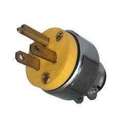 Plugs / Receptacles | Nema PlugsNEMA PLUG: 125V 15A 3-WIRE 2 POLE WITH CORD CLAMP