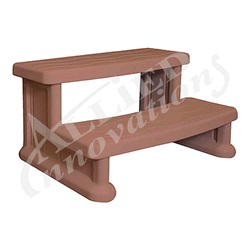 Accessories / Maintenance | Deck AccessoriesSTEP ASSEMBLY: SPA SIDE STEP REDWOOD