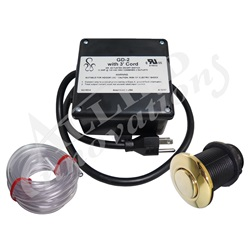 Controls / Equipment Packs   Garbage Disposal ControlsCONTROL: GD-2 120V WITH CORD 3' AND #15 POLISHED BRASS BUTTON
