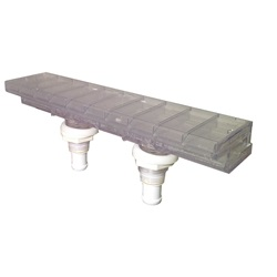 Jets / Jet Parts | Waterfall SystemsWATERFALL BODY: AQUA TERRACE WITH MOUNTING NUTS (2005+)
