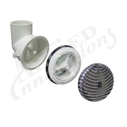 """Skimmers / Suctions / Drains   Suction Assemblies / PartsSUCTION ASSEMBLY: CLASSIC ROUND 1-1/2"""" WITH TUBING CHROME"""