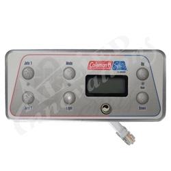 Topsides / Spaside Controls | Digital Topside ControlsTOPSIDE: 500 SERIES 2-PUMP WITH OVERLAY, COLEMAN SPAS 2001-02