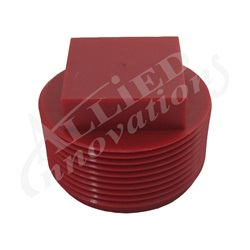 "Plumbing | Plumbing AccessoriesPIPE PLUG: 1-1/2"" SQUARE RED WITHOUT O-RING"