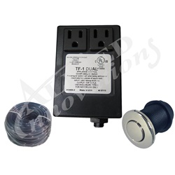 Controls / Equipment Packs   Garbage Disposal ControlsCONTROL: TF-1 DUAL 120V 1.0HP PACKAGE WITH #15 CHROME BUTTON