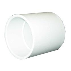 "Plumbing   PVC Pipes / FittingsPVC FITTING: COUPLING 3/4"" SLIP X 3/4"" SLIP"