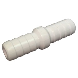 "Plumbing | PVC Pipes / FittingsPVC FITTING: COUPLER 3/8"" X 3/8"" RIBBED BARB"