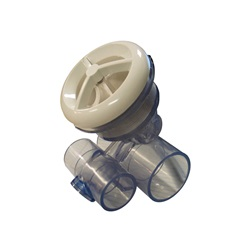 "Jets / Jet Parts | Jet AssembliesJET ASSEMBLY: 1"" SLIP AIR X 1-1/2"" SLIP WATER MICRO'SSAGE WHITE"