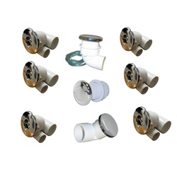 Plumbing | Plumbing Kits for Jetted TubsPLUMBING KIT: HYDRABATH FUTURA CHROME