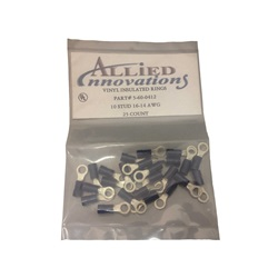 Wires / Connectors | Crimp-onsWIRE TERMINAL: RING - #16-14 - 10 STUD - BLUE (25/BAG)