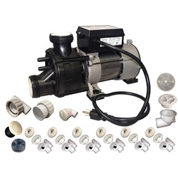 Plumbing | Plumbing Kits for Jetted TubsPUMP / PLUMBING JETTED TUB ASSEMBLY KIT: WW BATH BISCUIT WITH .75HP PUMP