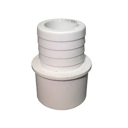 "Plumbing | AdaptersPVC ADAPTER: 1"" SPIGOT OR 3/4"" SLIP X 1"" RIBBED BARB"