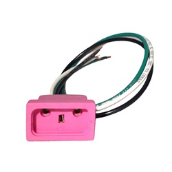 "Plugs / Receptacles | JJ Molded PlugsMJJ RECEPTACLE: OZONE 18/3 14"" PINK"