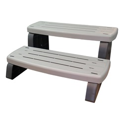 "Accessories / Maintenance | Deck AccessoriesSTEP ASSEMBLY: 33"" NON-SLIP 2 STEP COASTAL GRAY"