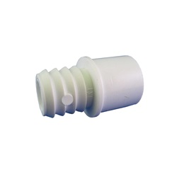 "Plumbing | AdaptersPVC ADAPTER: 1/2"" SLIP OR 3/4"" SPIGOT X 3/4"" RIBBED BARB"