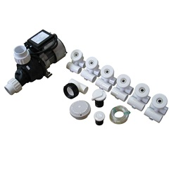 Plumbing | Plumbing Kits for Jetted TubsPUMP / PLUMBING JETTED TUB ASSEMBLY KIT: SLIMLINE WHITE WITH .75HP PUMP