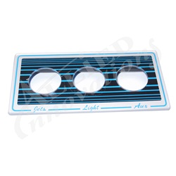 Air Buttons | Tubing / AccessoriesBUTTON DECKPLATE: 3 BUTTON, BLUE/BLACK